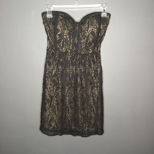 Monteau Strapless Mini Dress
